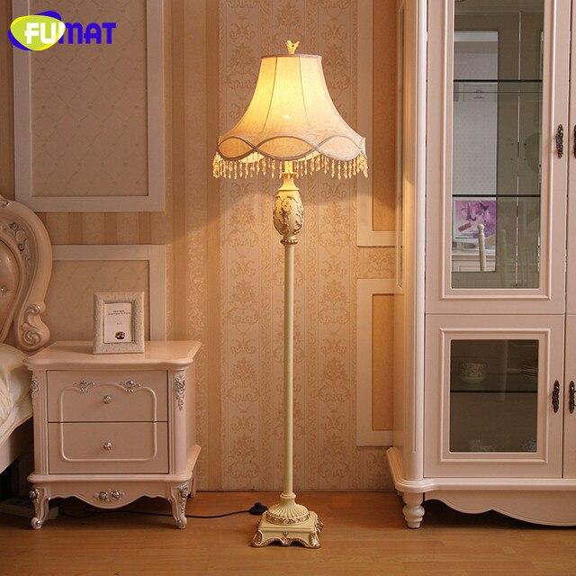 FUMAT Europäischen Vintage Klassische Stehleuchte Moderne Luxus Harz Stoff Stehlampe  Wohnzimmer Schlafzimmer Stand Boden Licht