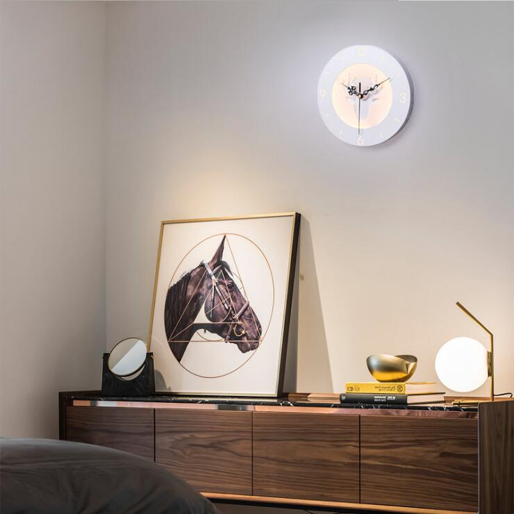 Wall Lamps Kids Rooms: Creative Clock Wall Lamp Bedside Bedroom Decorative Lights
