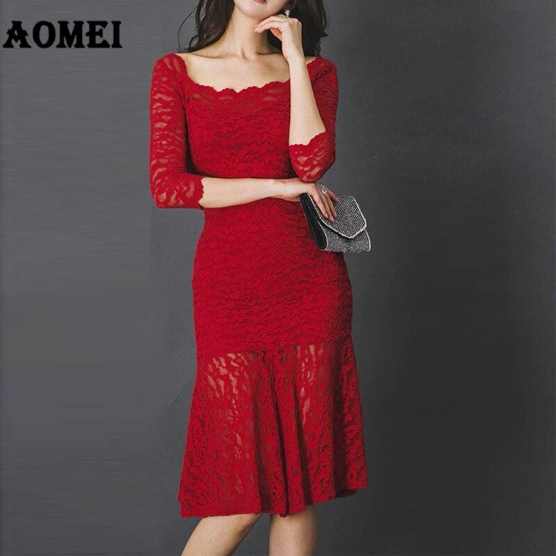 Женское тонкое красное кружевное платье карандаш элегантное обтягивающее по бедрам сексуальное классное вечернее платье для вечеринки мо...