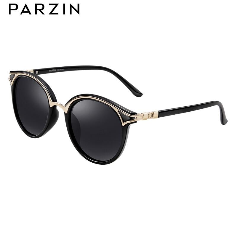 PARZIN Retro Round Women Sunglasses Golden Rim Fashion Elegant Ladies Sun Glasses Polarized Gafas De Sol