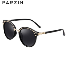PARZIN Retro Round Women Sunglasses Golden Rim Fashion Elegant Ladies Sun glasses Polarized gafas de sol