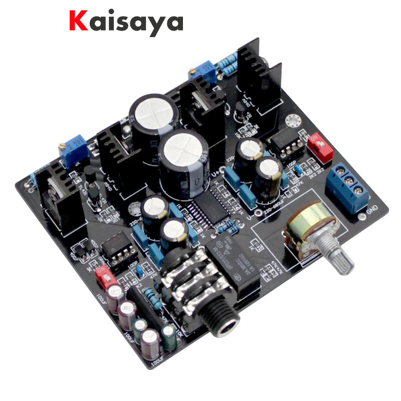 TPA6120A NE5534 HIFI 32 600 ohm speaker Headphone Amplifier Board with UPC1237 Protective Circuit  G9 007|Headphone Amplifier| |  - title=