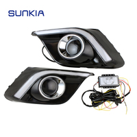 New Car LED DRL Specific For Mazda 3 Axela High Bright White Light With Amber Turn