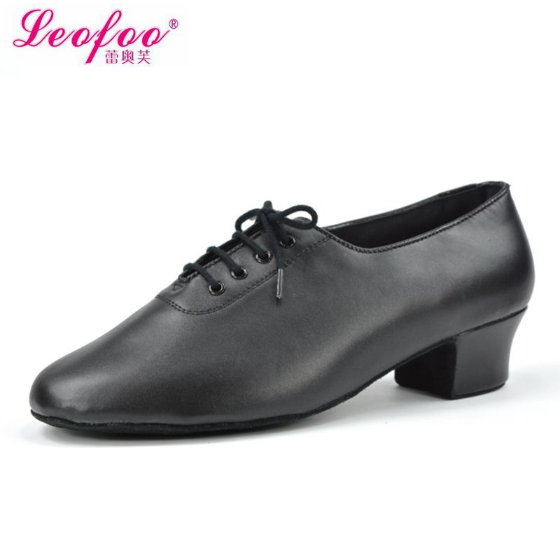 Men's dance shoes Ballroom/Latin Shoes Tango/Flamenco Shoes Cowhide leather black direct manufacturers with high 3.5 cm NL3