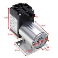 12V 6W Mini Vacuum Pump High Pressure Electric Diaphragm Pump With Holder 5L Min