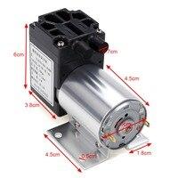 12V 6W Mini Vacuum Pump High Pressure Electric Diaphragm Pump With Holder 5L Min