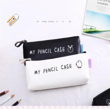 Cartoon My Pencil Case Bear Classical Black  White Waterproof Pu Leather School Stationery Pen Travel Cosmetic Bag Bags