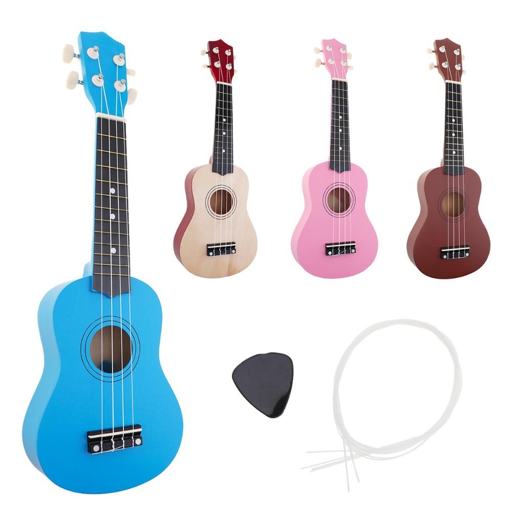 21-tolline Ukulele algaja Hawaii 4 stringiga kitarr Ukelele lastele - Muusikariistad