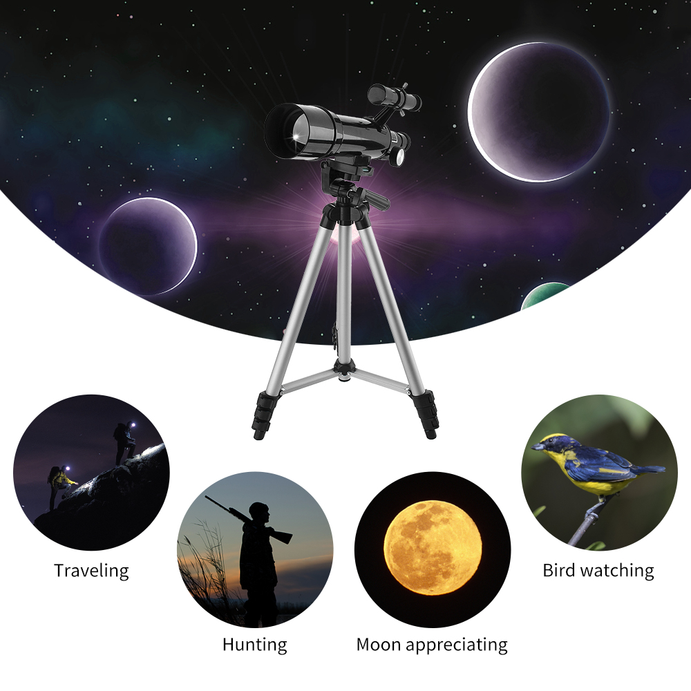 Outdoor Monocular 135X Refractive Space Astronomical Telescope Travel Spotting Scope with Adjustable Tripod and BackpackOutdoor Monocular 135X Refractive Space Astronomical Telescope Travel Spotting Scope with Adjustable Tripod and Backpack