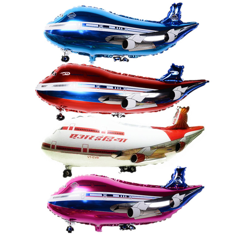 36inch Free delivery super large air passenger plane shape aluminum BALLOON Birthday Party Decoration balloon toy wholesale