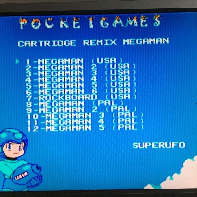 MegaMan1-6 English&Japanese 72 Pins game Cartridge for NES 3