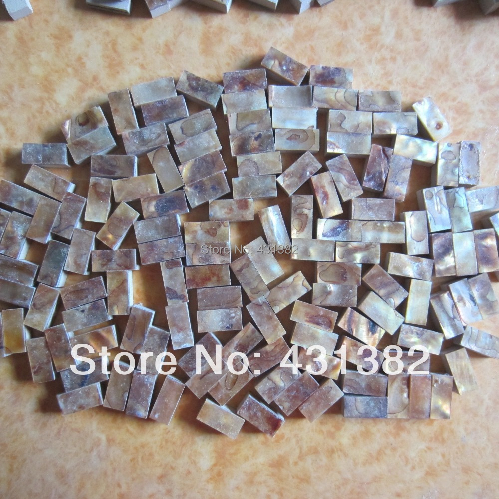 Hyrx Shell Tile Backsplash Mother Of Pearl Mosaic Tiles Dyed Antique Gold Color Granule Decorative Tile Strips 10 20 8mm