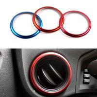 2 Pcs Lot Car Styling Air Conditioning Outlet Decorative Circle Trim Aluminum 3 Colors For Subaru