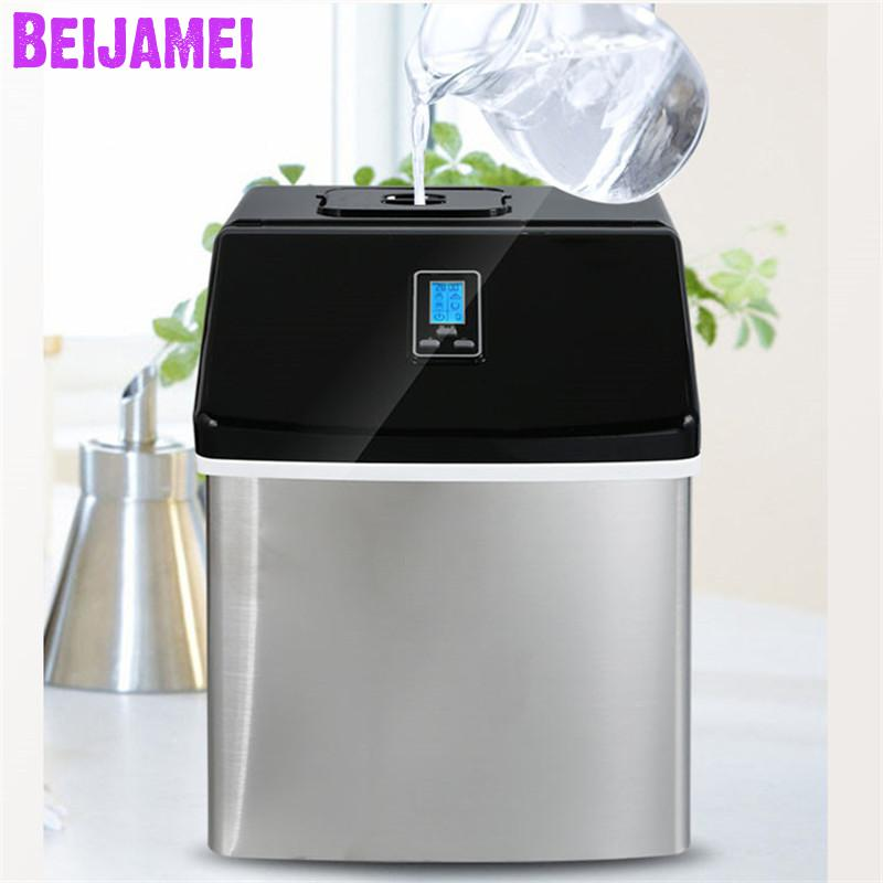 BEIJAMEI Portable electric ice maker, Household square ice making machine for family, bar,coffeeBEIJAMEI Portable electric ice maker, Household square ice making machine for family, bar,coffee
