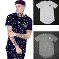 hip hop t shirt supbig sik silk siksilk t shirt spot Long style shirts tops men Longline tees With Paint Splatter