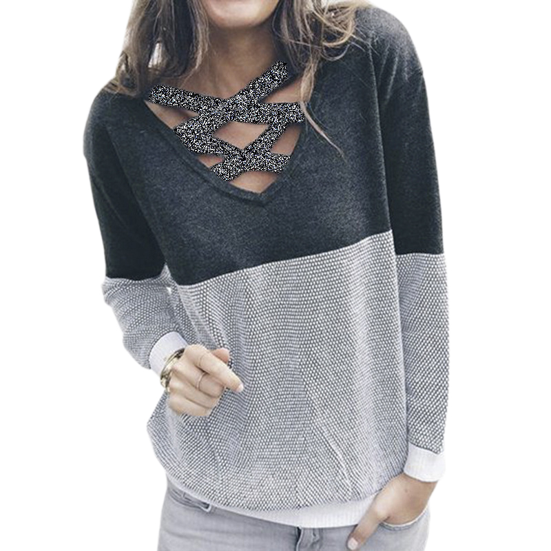 Fashion Two Side Wear Backless Women Hoodies Knitted Casual Pullover Long Sleeve Winter Swearshirts Jumper Top Plus Size GV151