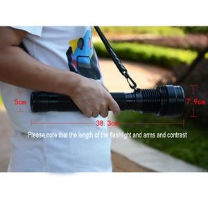 Image 3 - Xenon Torch 85W Flashlight Strong Light Lantern Searchlight 8000 Lumen Rechargeable Spotlight For Hunting Xenon Flashlights