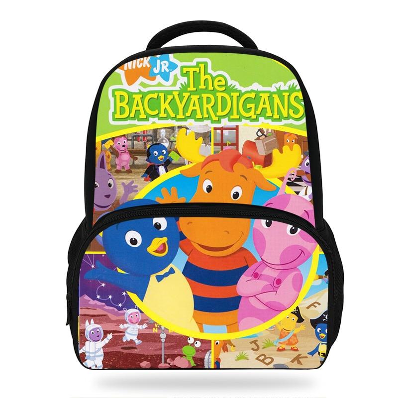 Cartoon The Backyardigans Children Backpack Cute Pattern Kids Book Bags Girls School Backpacks Kindergarten Bag boys Party Gift in School Bags from Luggage Bags