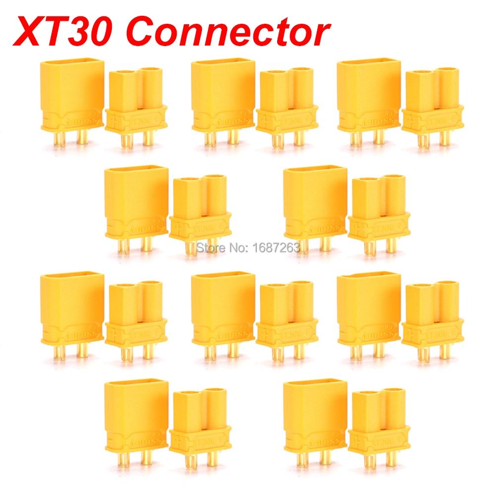 """10 пар XT30 XT30U XT60 XT60H XT90 EC2 EC3 EC5 T разъем батареи набор мужской женский Позолоченный разъем типа """"банан"""" для RC частей"""