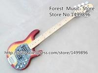 Top Quality Cherry Sunburst 5 Strings Music Man Electric Bass Guitar Body Kits China OEM Left