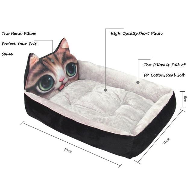 Cute Dog Bed Pad Animal Cartoon Shaped Kennels Lounger Sofa Soft Pet House Dog Bed Mat Big Basket Dog Mattress Pet Supplies 4
