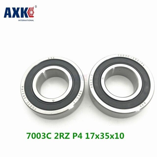 Axk 1pcs 7003 7003c 2rz P4 17x35x10 Sealed Angular Contact Bearings Speed Spindle Bearings Cnc Abec-7