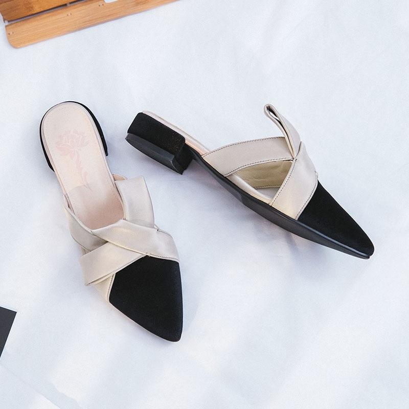 Dame Velours Qualité Femmes Nouvelles Mode De Noir Haute Élégant Desginer 2018 Luxe Pantoufles ardoisé Bow Chaussures Femme Conception Printemps Tie Automne AT8xg