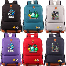Cartoon Games Minecraft Like a Boss Boys Girl School bag Women Backpack Teenagers Schoolbags Canvas Men Student Mochila