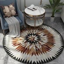 Круглый ковер в скандинавском стиле, компьютерный стул, круглый ковер, диван, журнальный столик, коврики и ковры для дома, гостиной, декоративный ковер