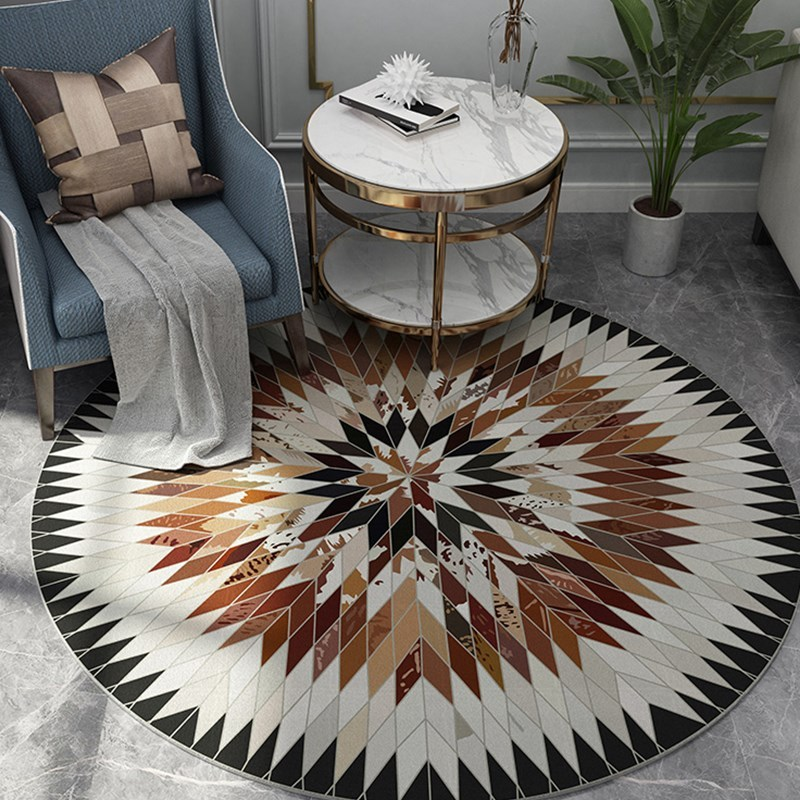 Nordic Style Round Carpet Computer Chair Round Rug Sofa Coffee Table Rugs And Carpets For Home Living Room Decorative Bedrom Rug