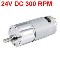 Uxcell Newest 1PCS ZGB37RG DC24V 300RPM 7.2W Gear Motor High Torque Reduction Gearbox Eccentric Output 15x5.9mm D Shaft for M3