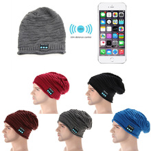 Warm Knit Hat Wireless Bluetooth Headphones Built-in Stereo Speakers Hands-free Phone Call Answer Ears-free Winter Knit Hat  JL