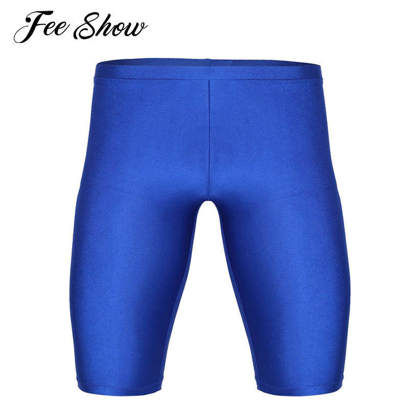 Men's Summer Solid Leisure Skinny Pants Elastic Leisure Tight Calf-Length Pants Quick Dry Compression Skinny Workout Gyms Pants