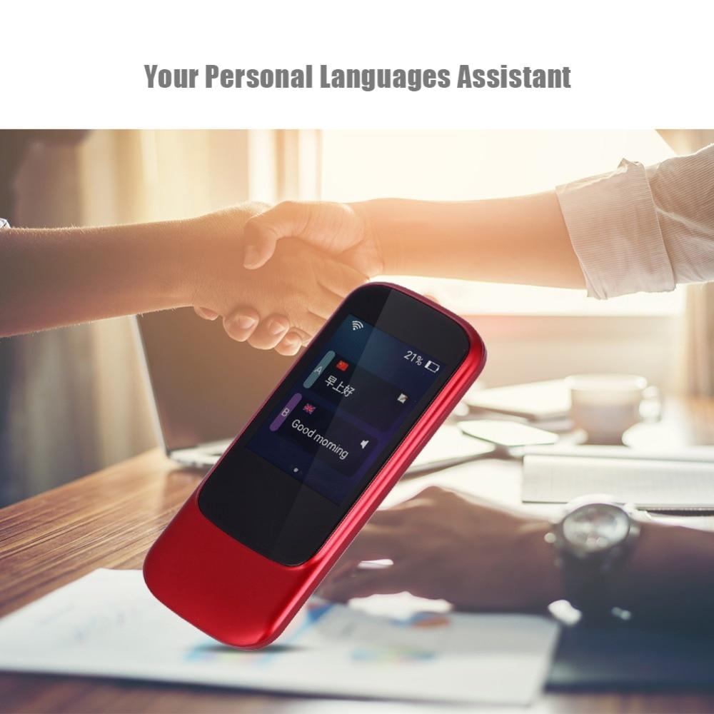 Portable Real Time Voice Translator WIFI Wireless Intelligent Interpreter Bluetooth 4.0 Multi Language Translator + Touch Screen intelligent wireless real time surveillance system