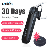 LANSHA Bluetooth Earphone 30 Days Standby Wireless Headset With Microphone Hands Free Stereo Music For Iphone