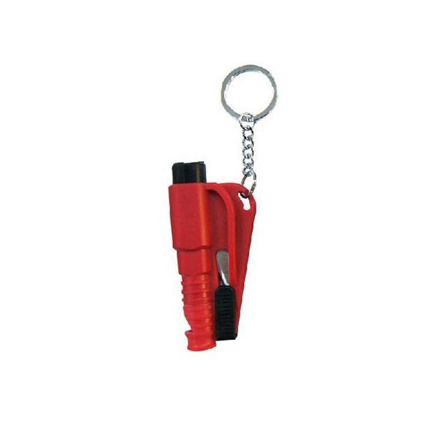 Martillo colgante para coche Mini de moda multifunción cinturón de seguridad cortador llavero herramienta de rescate martillo