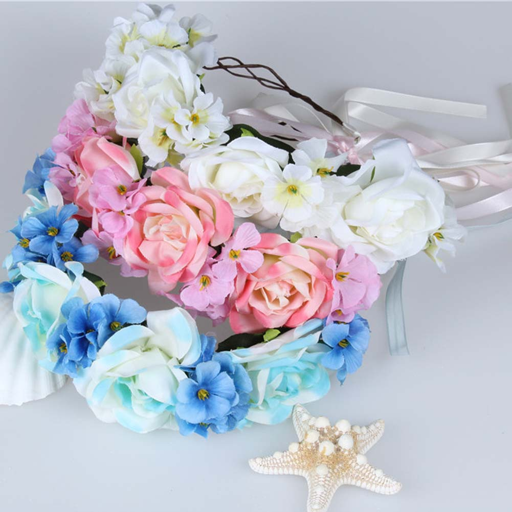 1pc fashion vintage women bride wedding headdress garland head band 1pc fashion vintage women bride wedding headdress garland head band rose flower crown photo props in hair jewelry from jewelry accessories on izmirmasajfo
