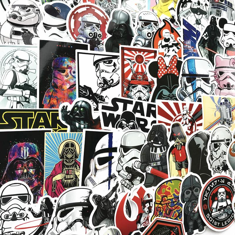 TD ZW 50Pcs Set Cool Style Star Wars Waterproof Funny Stickers For Luggage Laptop Bike Motorcycle