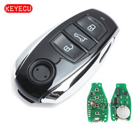 Keyecu Smart Remote Key 3 Button 868MHz PCF7953 Chip for Volkswagen Touareg 2011 2014 With Small key|chip|chip keys|  -