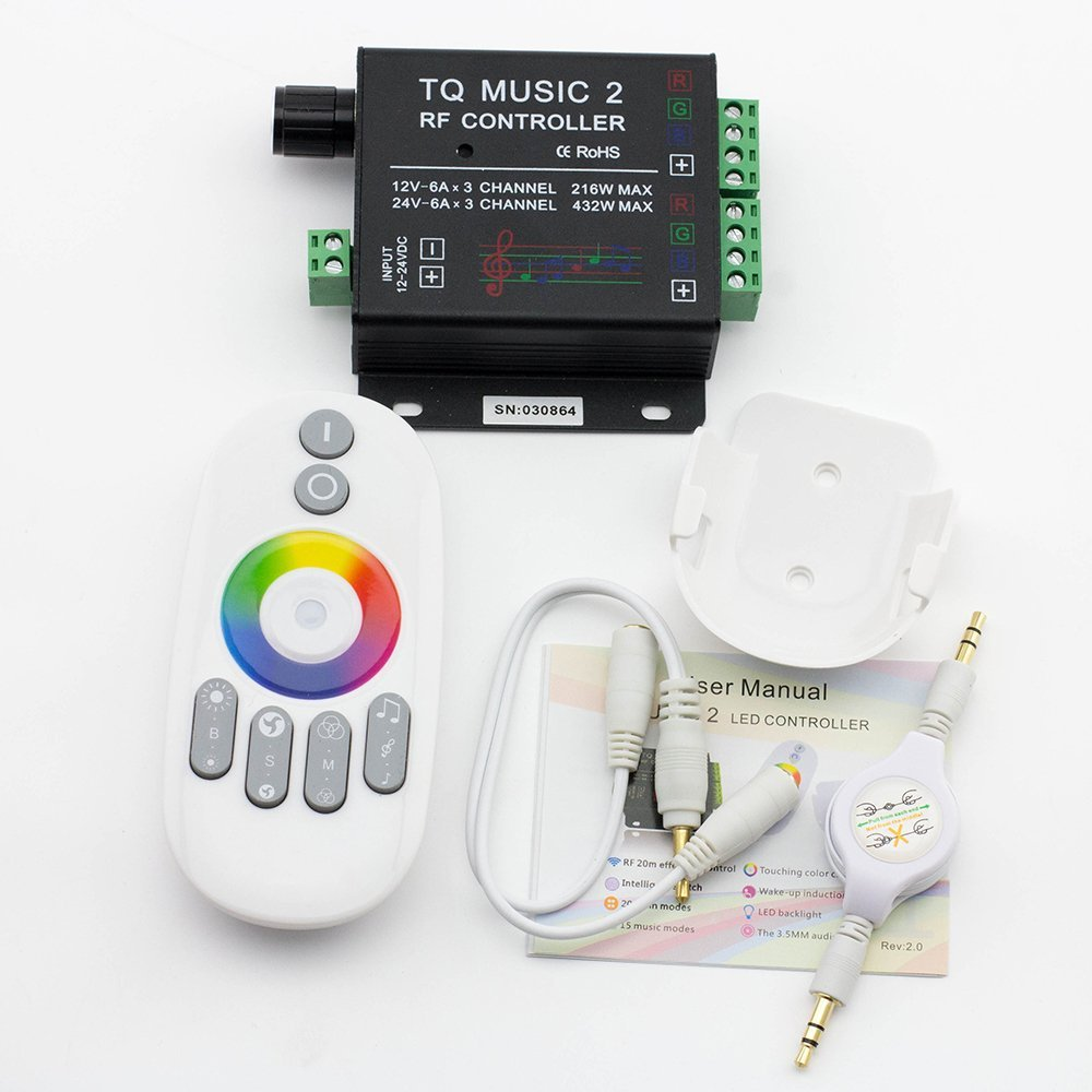 Led Rgb Music Touch Controller Rf Sensitivety Backlight Remote Wiring Diagram For Strip Lights As Well Touching Color 35mm Audio 15 Modes Light Cont In Controlers From
