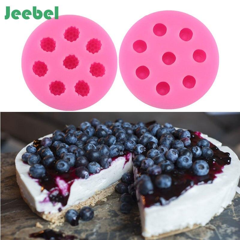 Иезавель 8 отверстий малины черники плесень Форма торт Силиконовые Berry Фондант Mold торт украшение инструмент формы для выпечки