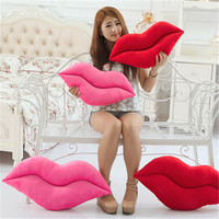 Free Shipping One Piece Creative Sexy Lip Big Plush Pillow Cushion Large Red Lips Soft PP Cotton Stuffed Toys Birthday Gifts