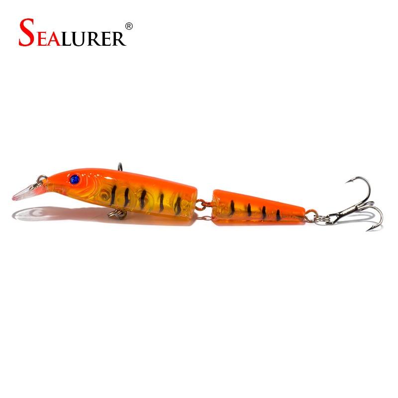 SEALURER Minnow Ribolov mami Lifelike Laser 2 Sekcije 10CM 9.4G Pesca - Ribarstvo - Foto 5