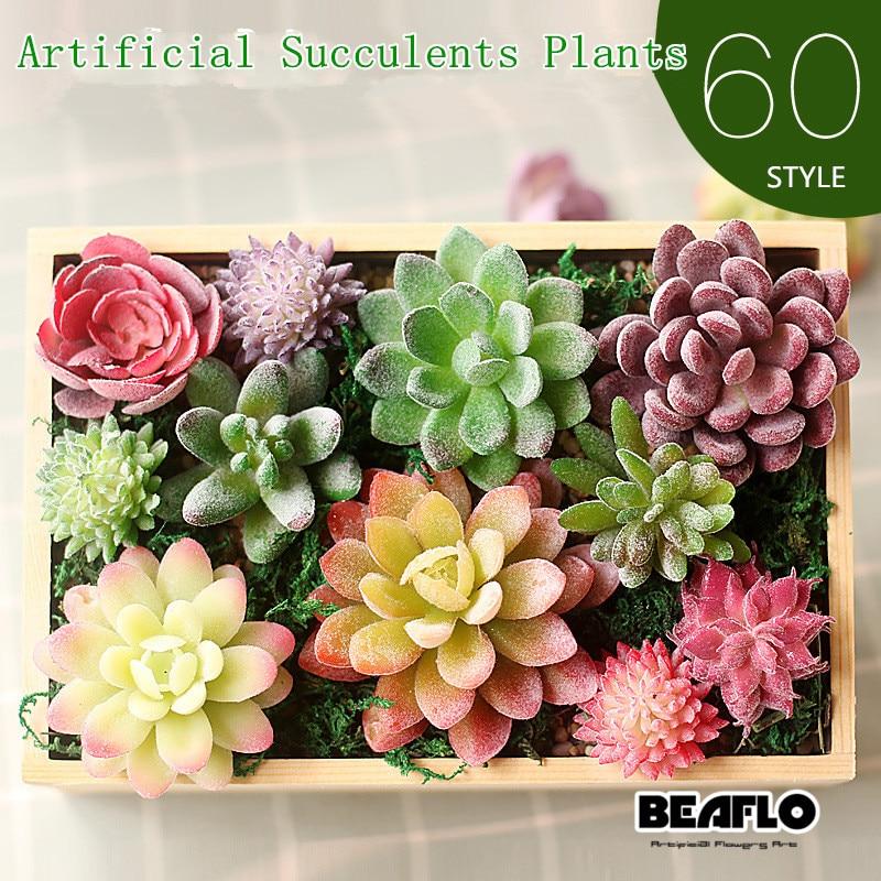 Искусственные суккуленты земля lotus растения Трава Desert искусственные растения пейзаж поддельные Цветочная композиция Сад украшения дома