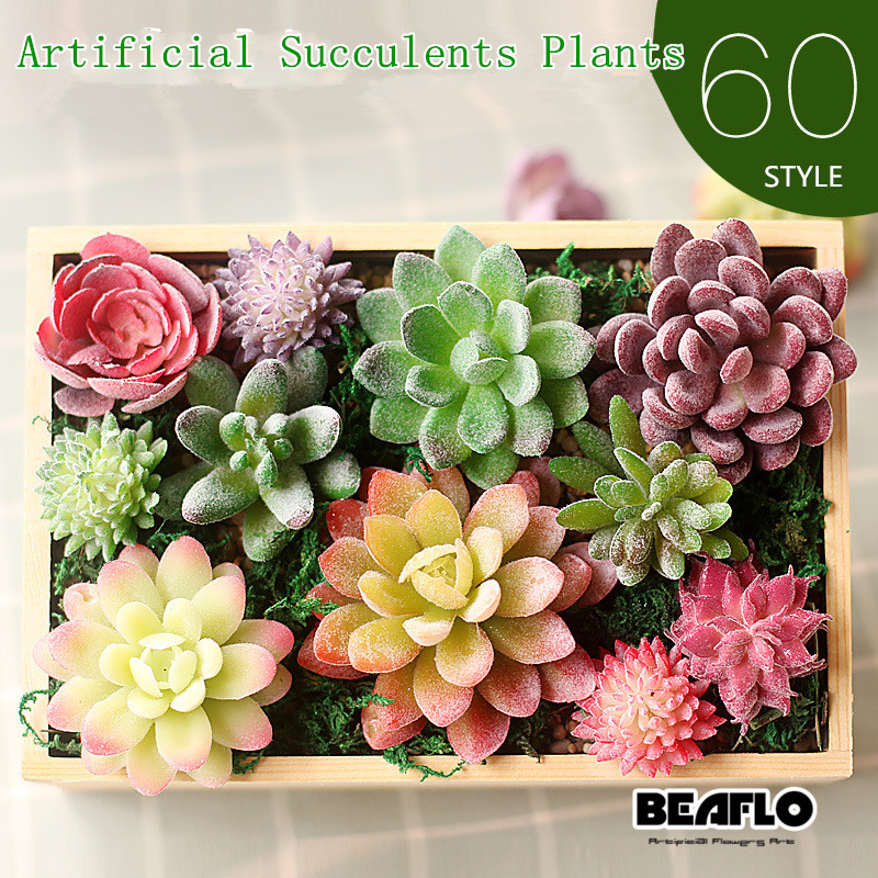 Artificial Succulents Decoration Land Lotus Plants Grass Desert Artificial Plant Landscape Fake Flower Arrangement Garden Home