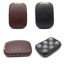 Cafe Racer Motorcycle Rear Fender Riveting Solo Seat Cover PU Leather Pillion Pad Brown 8 Suction Cups for Harley