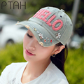 PTAH Women Snapback Hip Hop Baseball Caps Gorras Denim Diamond Point Letter Hats Chapeu Feminino Summer Adjustable Casquette4154