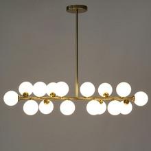 Longitud de 1000mm de oro/negro haba mágica llevó luces colgantes salón comedor tienda colgante de cristal moderno led striplight accesorios de la lámpara