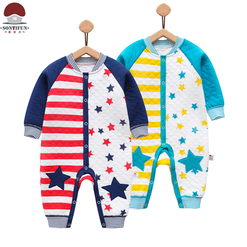 bebes kikikids new born baby clothes new baby rompers winter