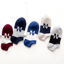 Cotton letter stripe unisex socks short tube cotton sports fitness jogging comfortable
